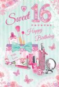 Sweet 16th Birthday Card